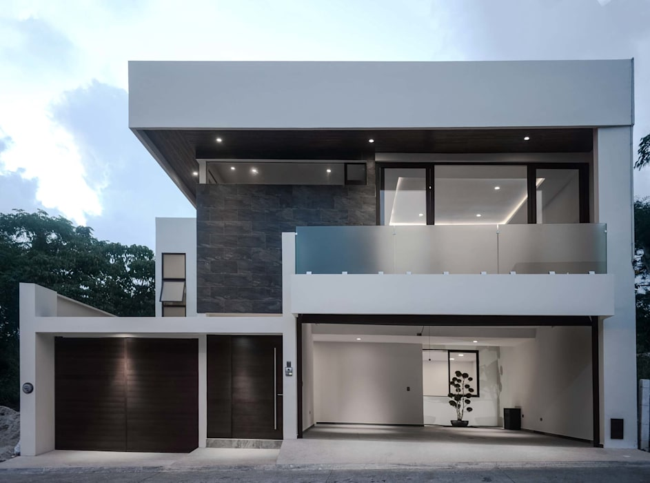 GRUPO WALL ARQUITECTURA Y DISEÑO SA DE CV Detached home Wood-Plastic Composite Grey