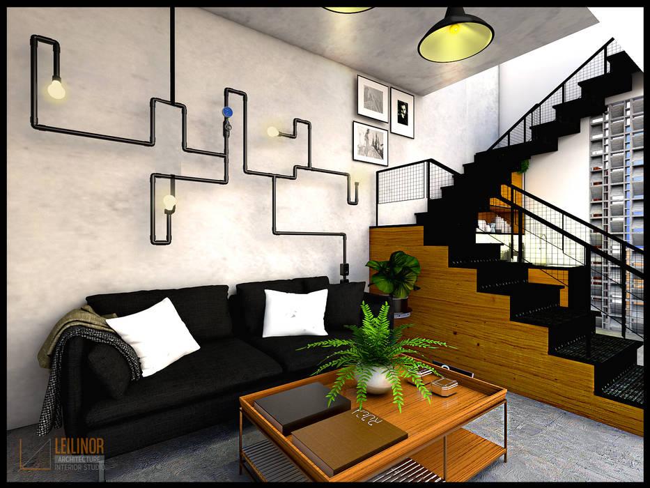 Ruang Keluarga Gaya Industrial Oleh CV Leilinor Architect Industrial