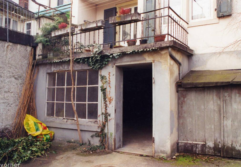 Mehrfamilienhaus Binningen Moderne Garagen & Schuppen von Ave Merki Architekten Modern Glas