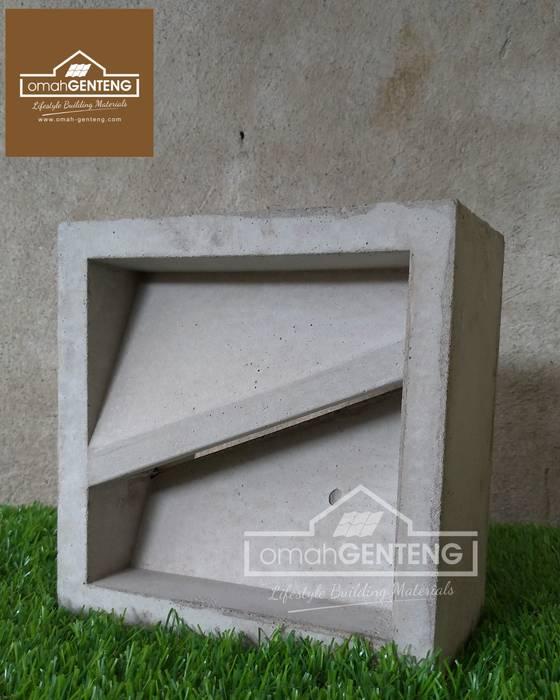 HP/WA: 08122833040 - Roster Dinding Beton - Omah Genteng:  Kantor & toko by Omah Genteng
