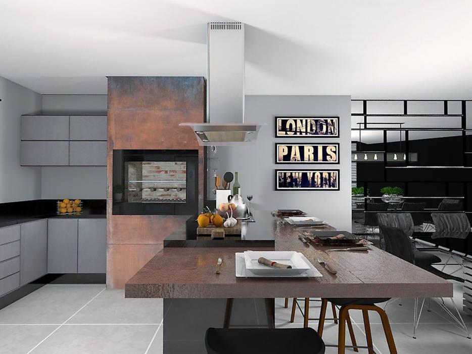Área Gourmet por homify Moderno Madeira Efeito de madeira