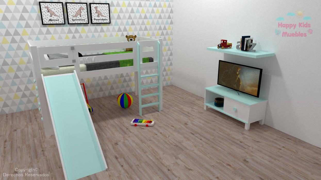 Dormitorios de niños de estilo  por Happy Kids Muebles,