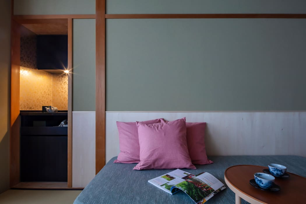 祇園 料理旅館 花楽 久和原建築事務所 アジア風商業空間 緑