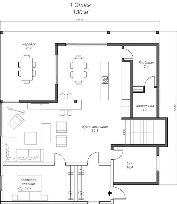 План 1 этажа:  в . Автор – Константин Крюков Archiport