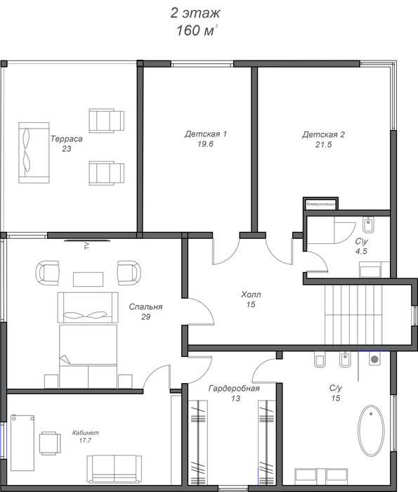 План 2 этажа:  в . Автор – Константин Крюков Archiport