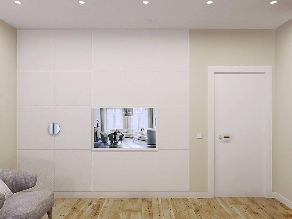 Частный дом в Юкках: Спальни в . Автор – Wide Design Group, Минимализм