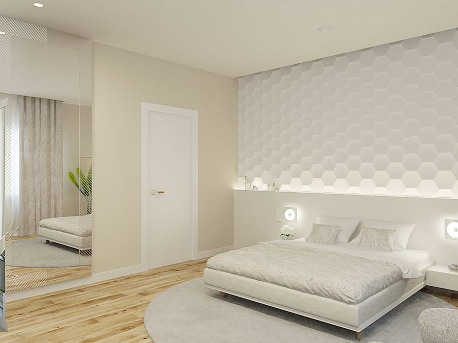 Minimalist bedroom by Wide Design Group Minimalist
