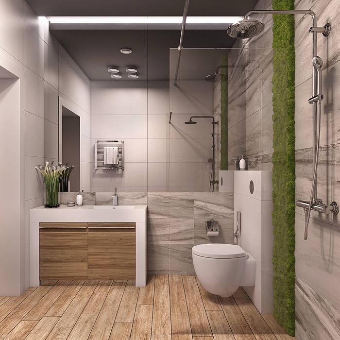 Частный дом в Юкках: Ванные комнаты в . Автор – Wide Design Group, Минимализм