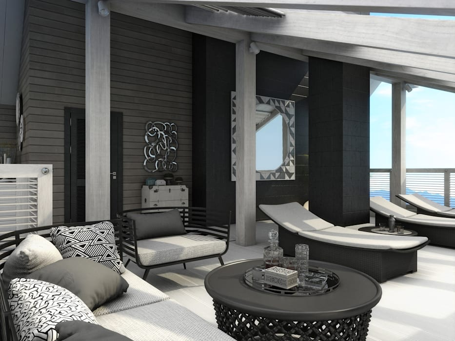Colonial style balcony, porch & terrace by Wide Design Group Colonial