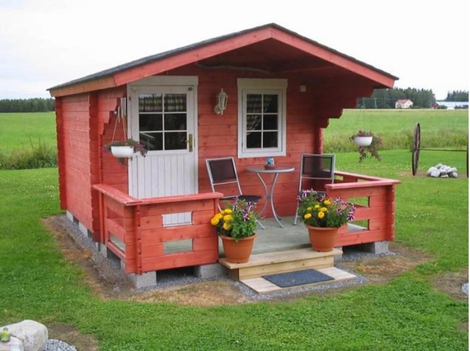 Jardines de invierno clásicos de BZB Cabins And Outdoors Clásico Madera maciza Multicolor
