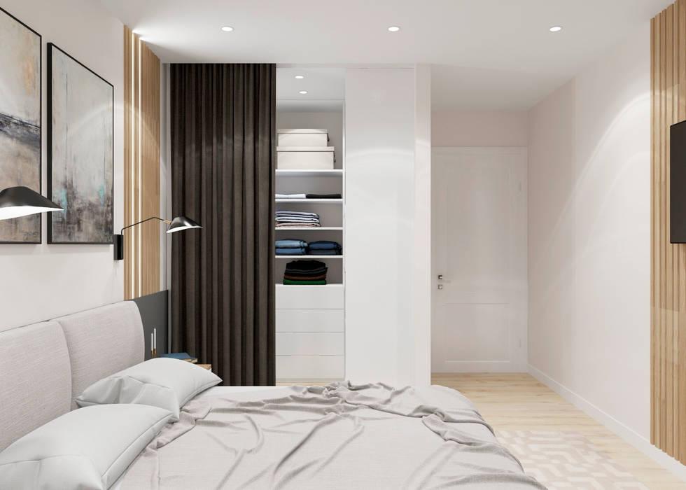 Дизайн-проект двухкомнатной квартиры по  ул. Олешева г. Минск: Гардеробные в . Автор – BOHO DESIGN,