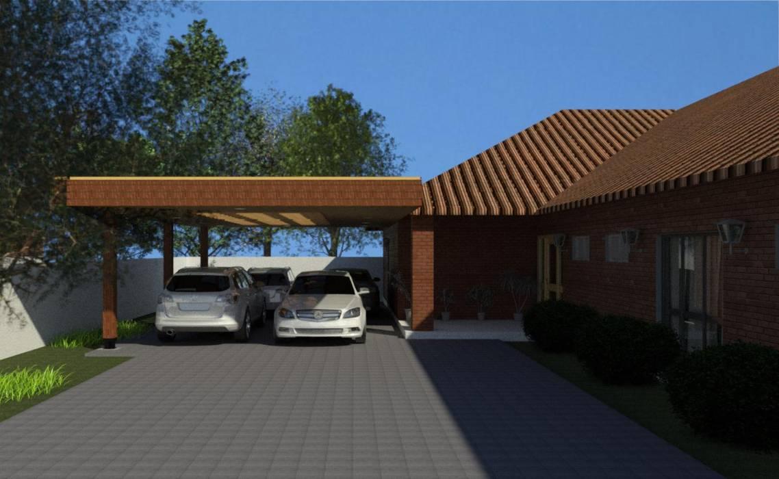 Tejados planos de estilo  de eco cero - Arquitectura sustentable en Talca, Moderno