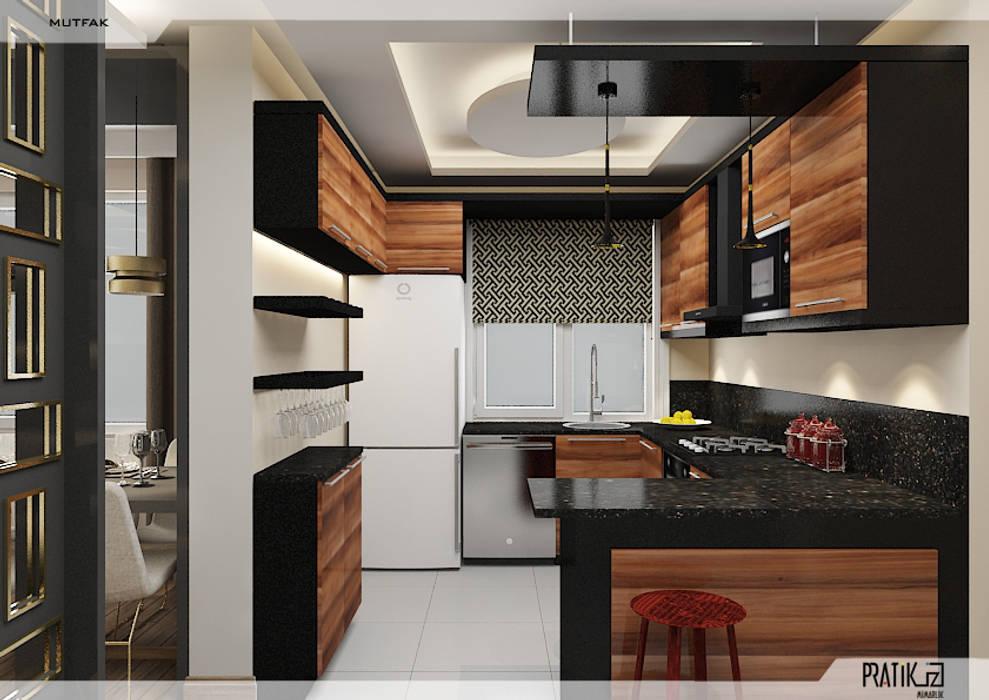 PRATIKIZ MIMARLIK/ ARCHITECTURE – Mutfak:  tarz Mutfak