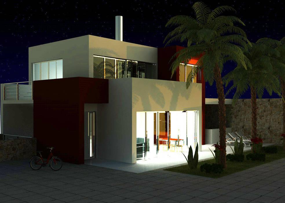 Villas by MEF Architect, Minimalist Glass