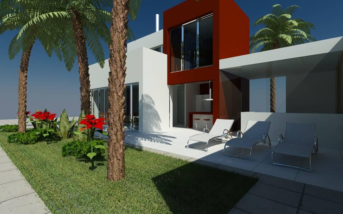 Zijaanzicht:  Villa door MEF Architect