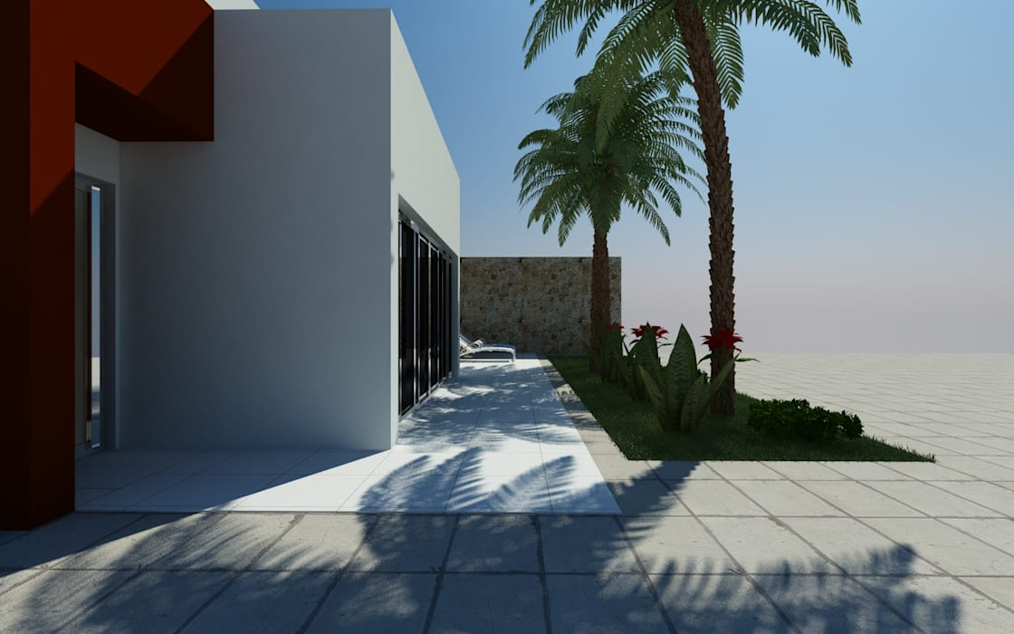 Entree:  Villa door MEF Architect