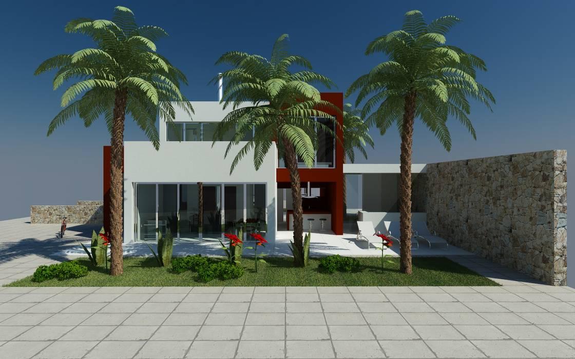 Voorgevel:  Villa door MEF Architect