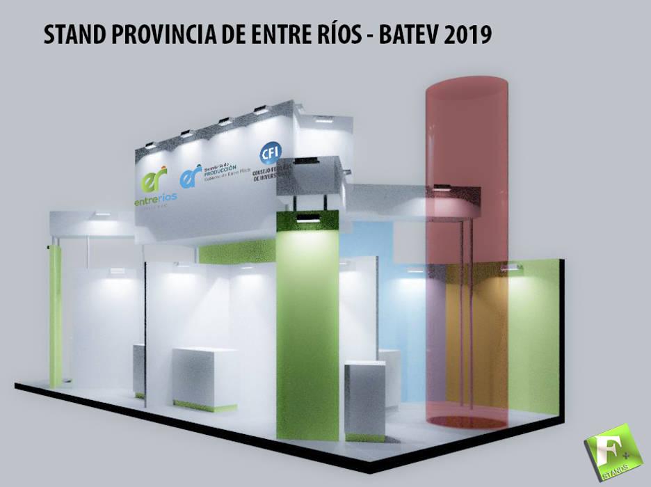 Diseño de Stand Institucional Provincia de Entre Ríos, muestra de la construcción en Buenos Aires Centros de exposiciones de estilo moderno de Faerman Stands y Asoc S.R.L. - Arquitectos - Rosario Moderno Derivados de madera Transparente