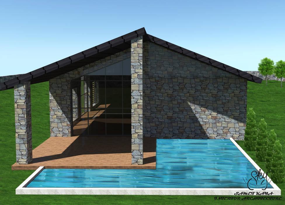 Country house by SKY İç Mimarlık & Mimarlık Tasarım Stüdyosu