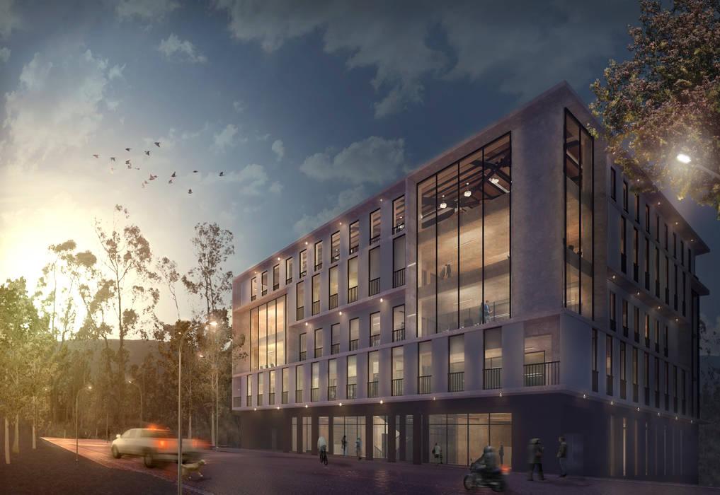 Proyecto de oficinas Chachapoyas de Karstico Moderno Concreto