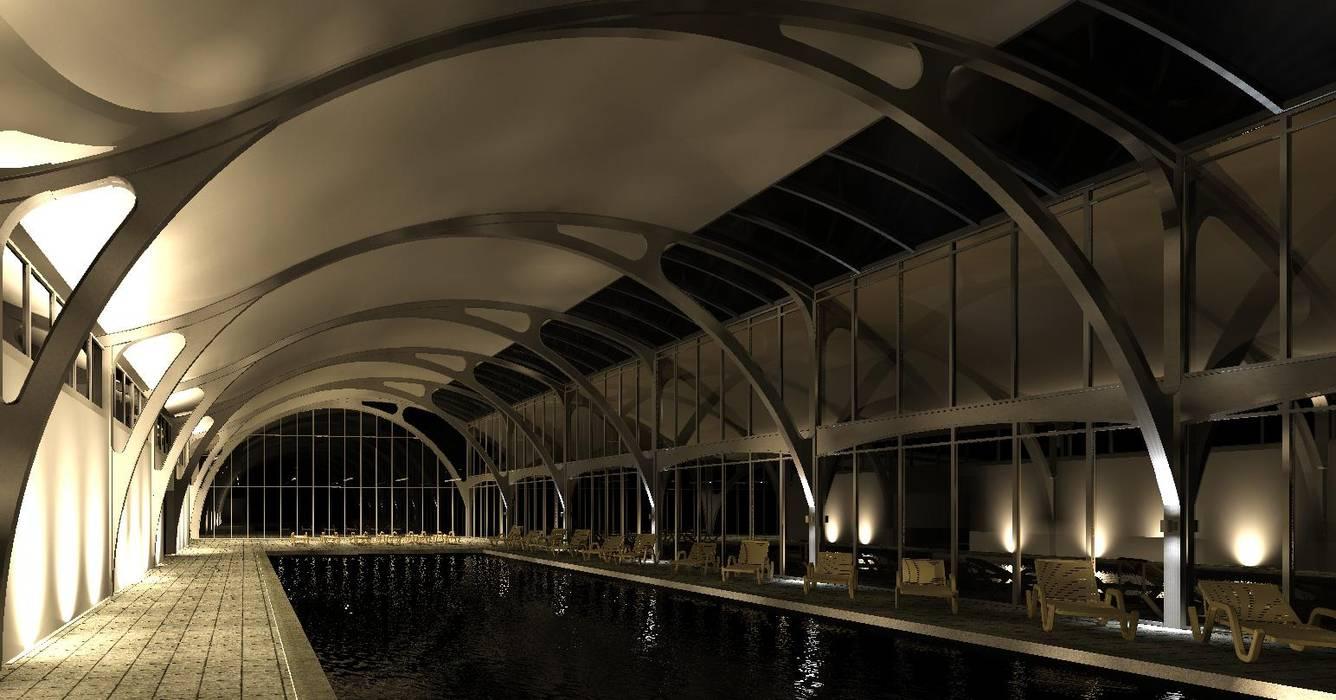 Piscinas de jardín de estilo  por MRH Arquitectos, Industrial Hierro/Acero