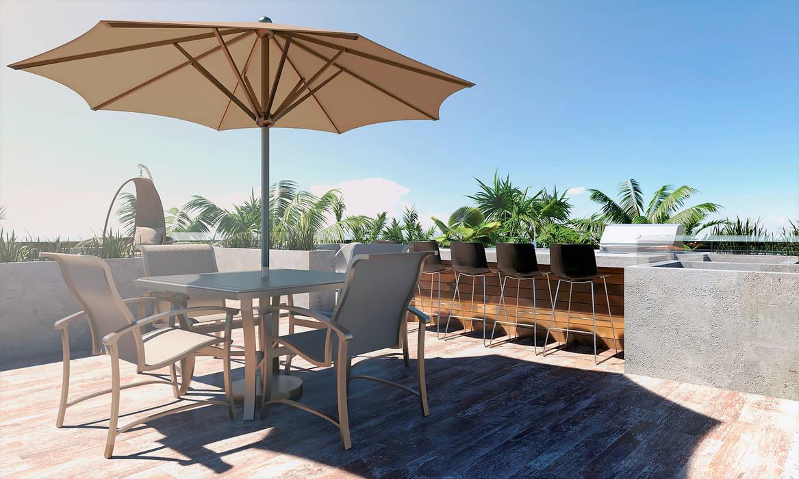 CODIAN CONSTRUCTORA Modern balcony, veranda & terrace