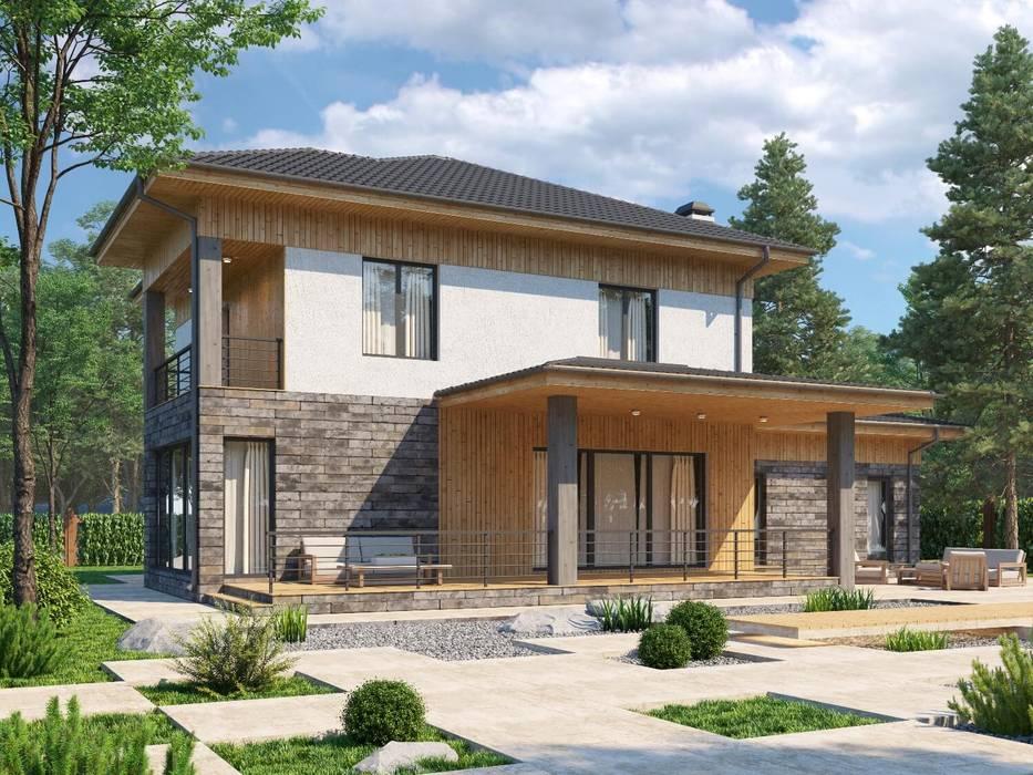 Горнинген_269 кв.м: Дома в . Автор – Vesco Construction,