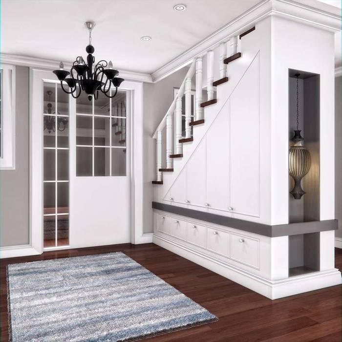 Yunus Emre | Interior Design Pasillos, vestíbulos y escaleras modernos de VERO CONCEPT MİMARLIK Moderno