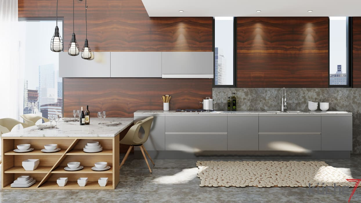 Dapur Modern Oleh Küche7 Modern