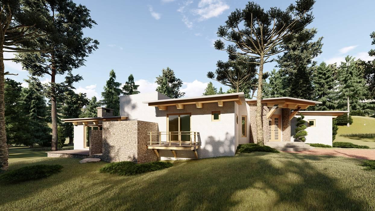 Log cabin by N+A arquitectos,