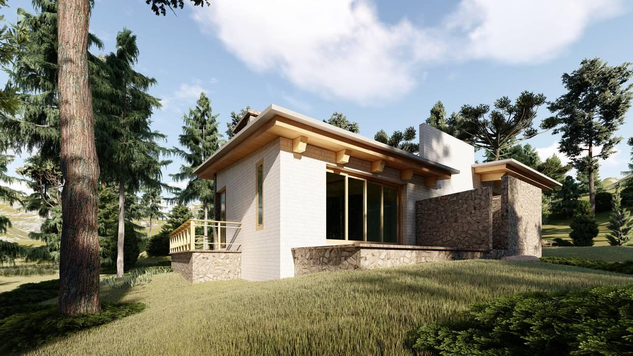 Chalets de estilo  por N+A arquitectos,
