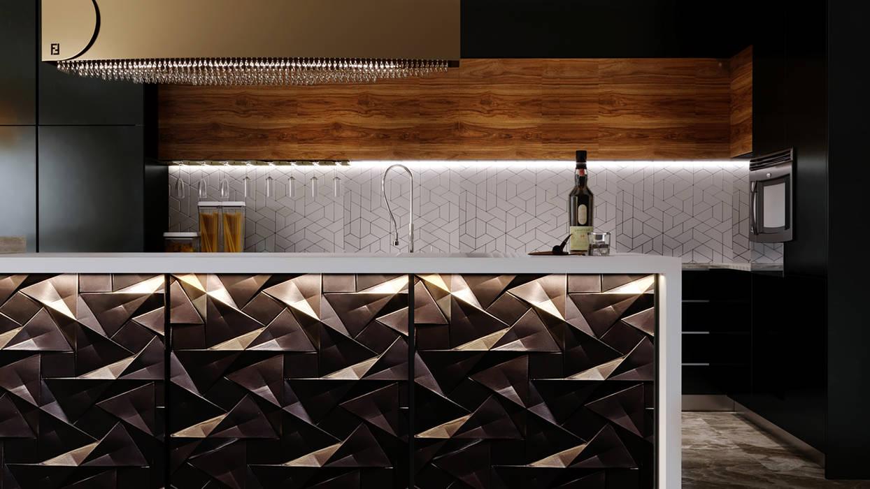 Cuisine moderne par Swan Studio Moderne