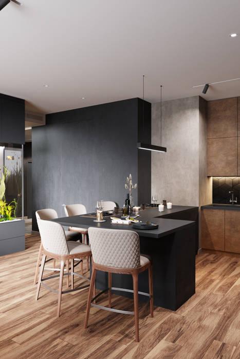 ห้องนั่งเล่น โดย Студия архитектуры и дизайна Дарьи Ельниковой, มินิมัล