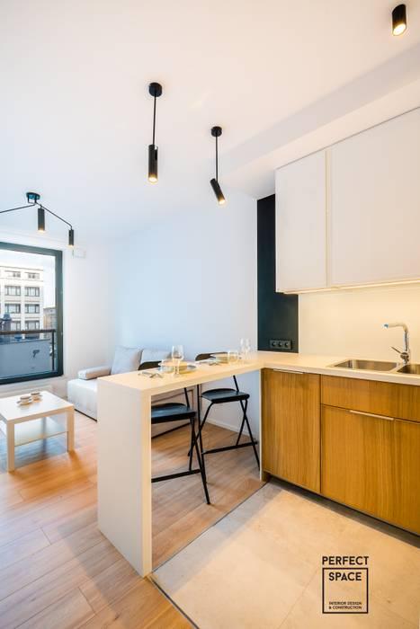 Mieszkanko dla dwojga Perfect Space Minimalistyczna kuchnia