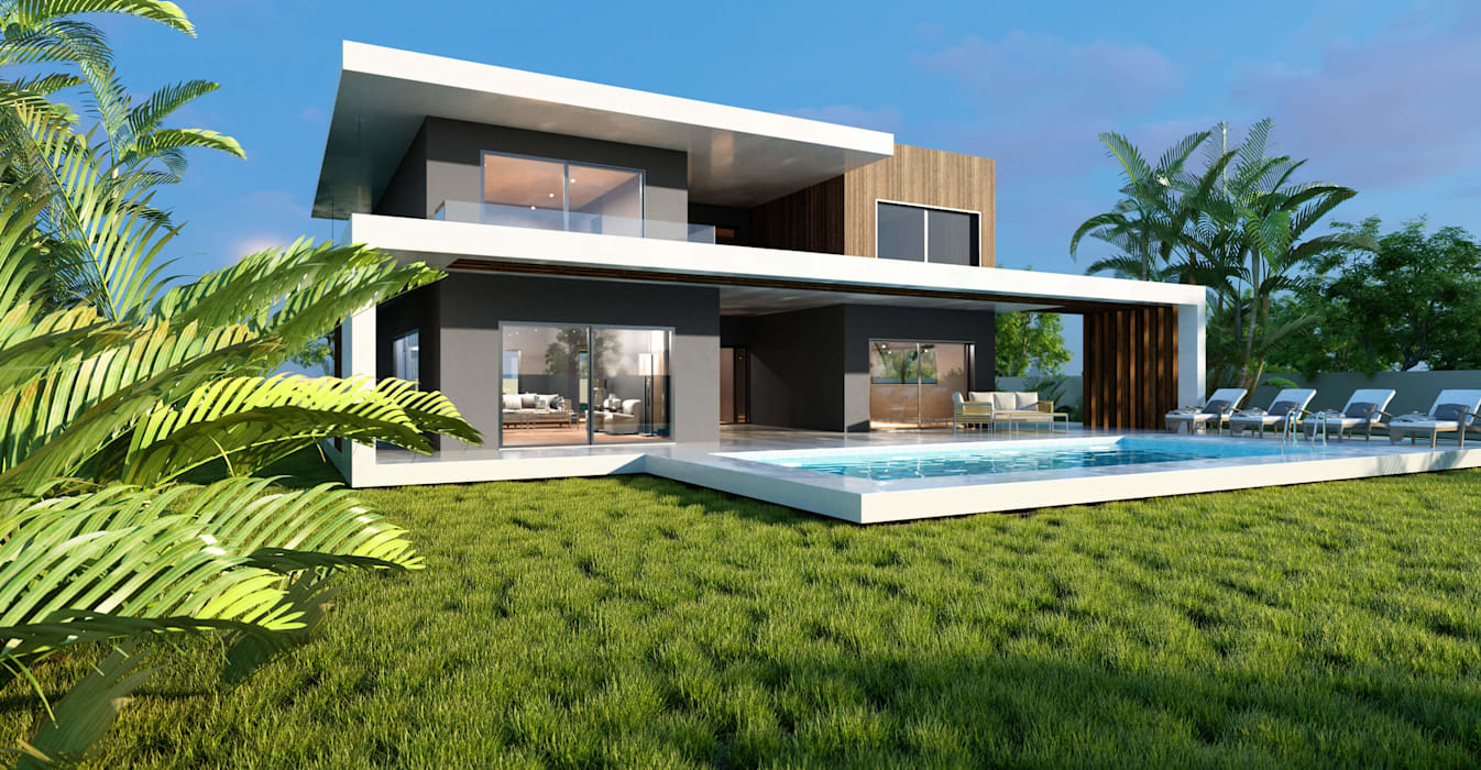 ANTE MİMARLIK  – Akar İnşaat Villa :  tarz Villa, Modern