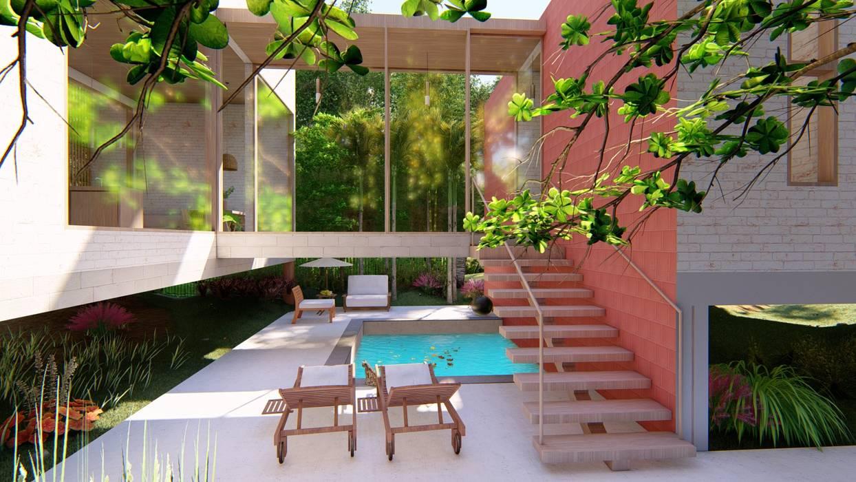 Oleh Eva Arceo Interiorismo Tropis Kayu Wood effect