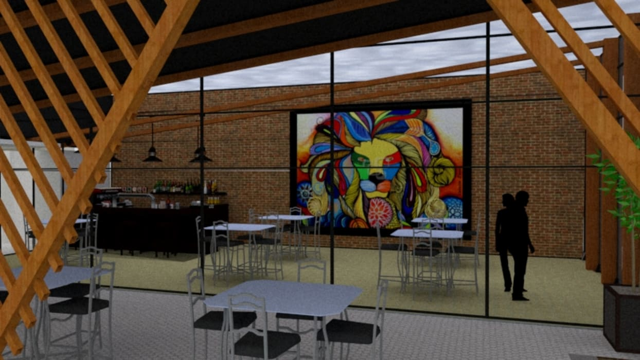 STUDIO SPECIALE - ARQUITETURA & INTERIORES Balcony Wood Multicolored