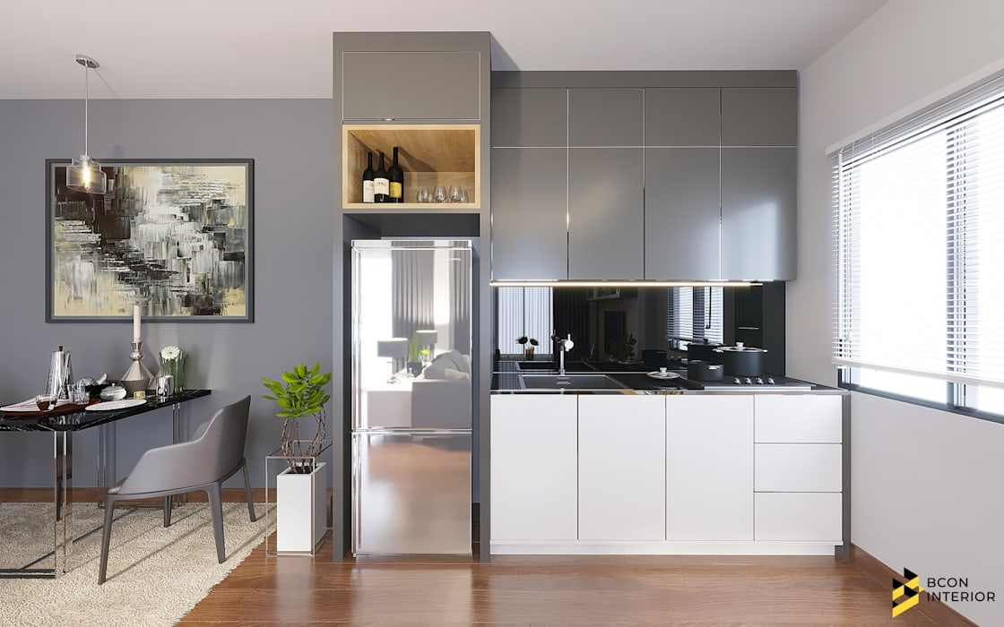 ผลงานการออกแบบตกแต่งภายในบ้านพักอาศัย: ทันสมัย  โดย Bcon Interior , โมเดิร์น