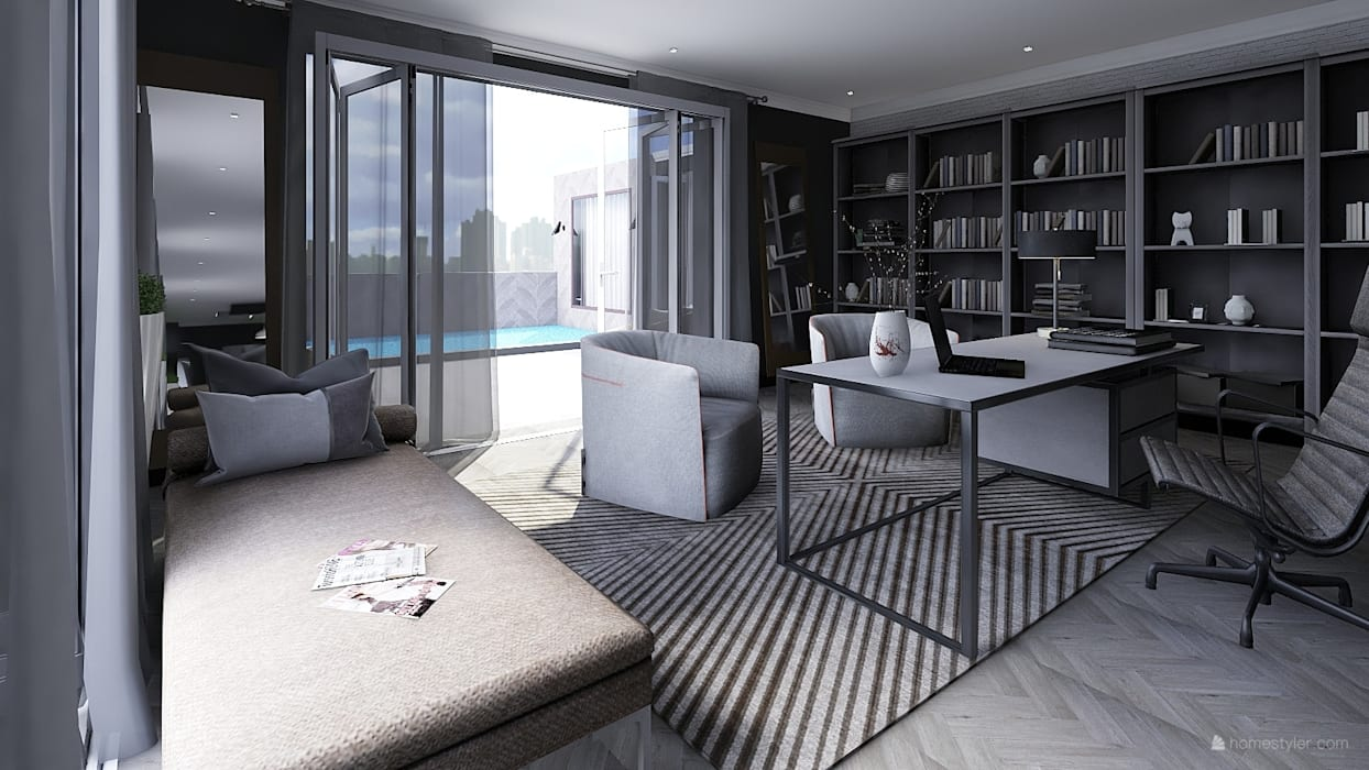 Study/ Home Office:  Study/office by CKW Lifestyle Associates PTY Ltd