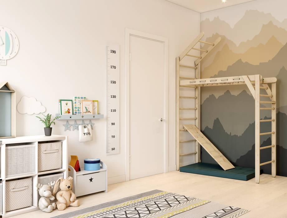 ห้องนอนเด็ก โดย Алёна Демшинова, สแกนดิเนเวียน