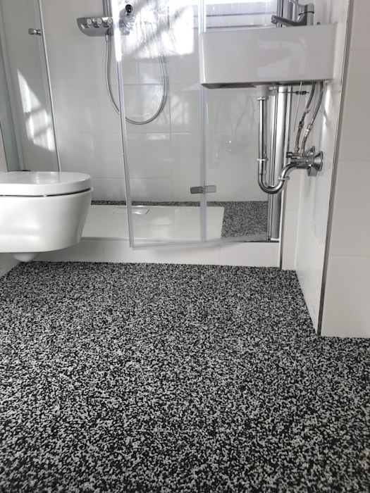 Fugenloser boden aus marmor für alle räume: steinteppich ...