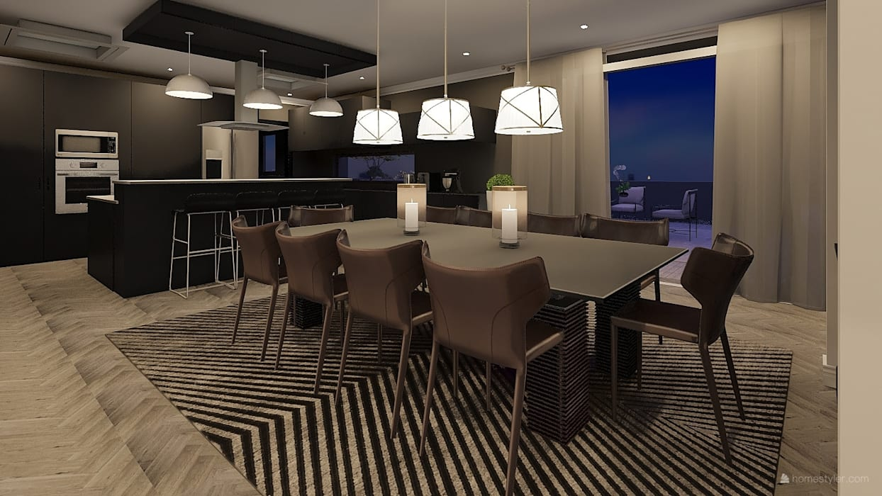Sandton Penthouse Interior Design & Architecture:  Dining room by CKW Lifestyle Associates PTY Ltd, Modern