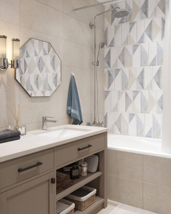 ЖК Мой Адрес: Ванные комнаты в . Автор – OM DESIGN, Скандинавский