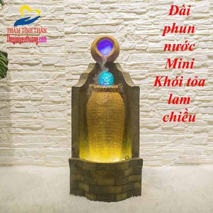 Thác Nước Phong Thủy Hình CHum:  Phòng khách by Quà Tặng Natra
