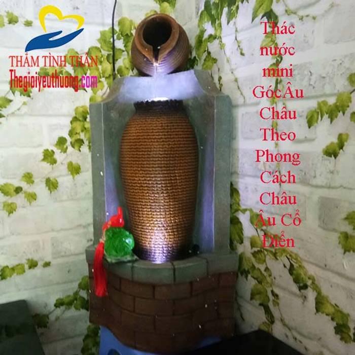 Đài Phun Nước Phong thủy HÌnh Chum:  Phòng khách by Quà Tặng Natra