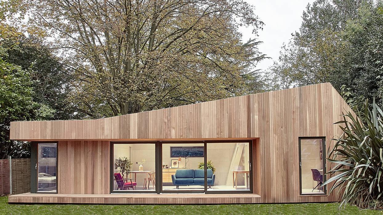 Facciata esterna di Ecospace Italia srl Moderno Legno Effetto legno