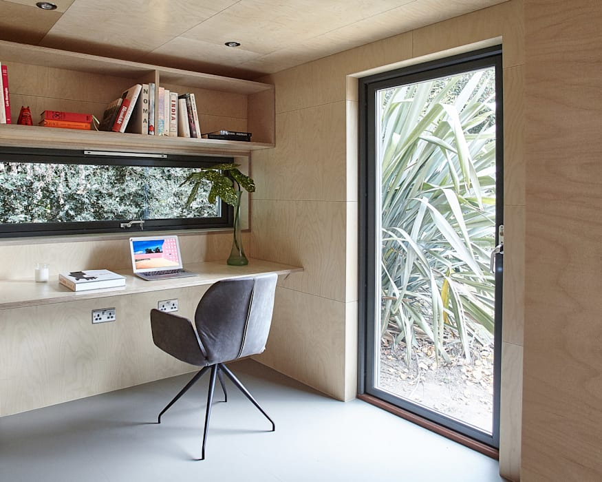 homify Modern study/office Wood Wood effect