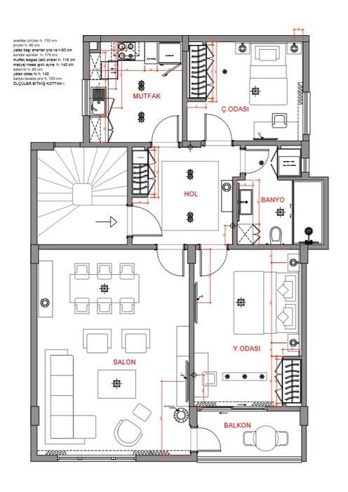 Orby İnşaat Mimarlık – Evin Genel Planı:  tarz