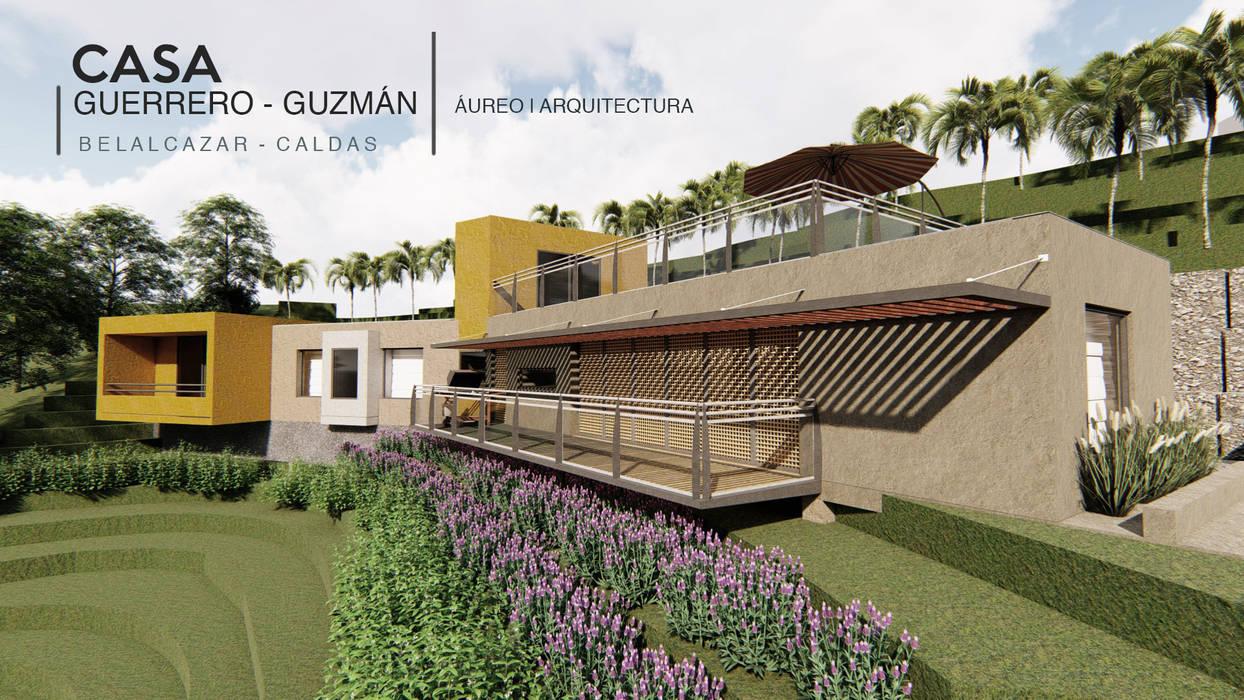 Fachada Casa Guerrero Guzmán Áureo Arquitectura Casas unifamiliares Caliza Amarillo