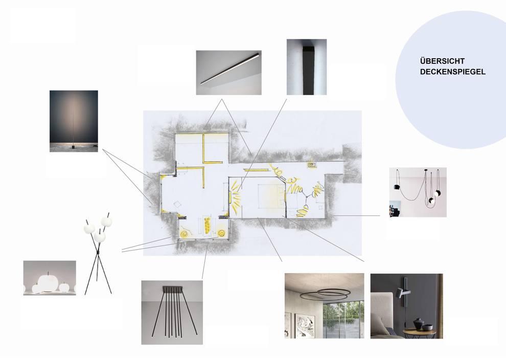 Skizze Deckenspiegel Entwurf: modern  von Sandra Klösges,Modern